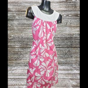 Lilly Pulitzer | Shift Dress Floral Pink & White